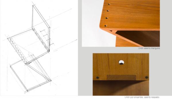 Movimientos de siglos xix y xx mobiliario carolina for Silla zig zag planos