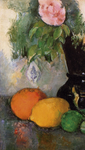 Obra Flowers and Fruit, Paul Cezanne, 1880