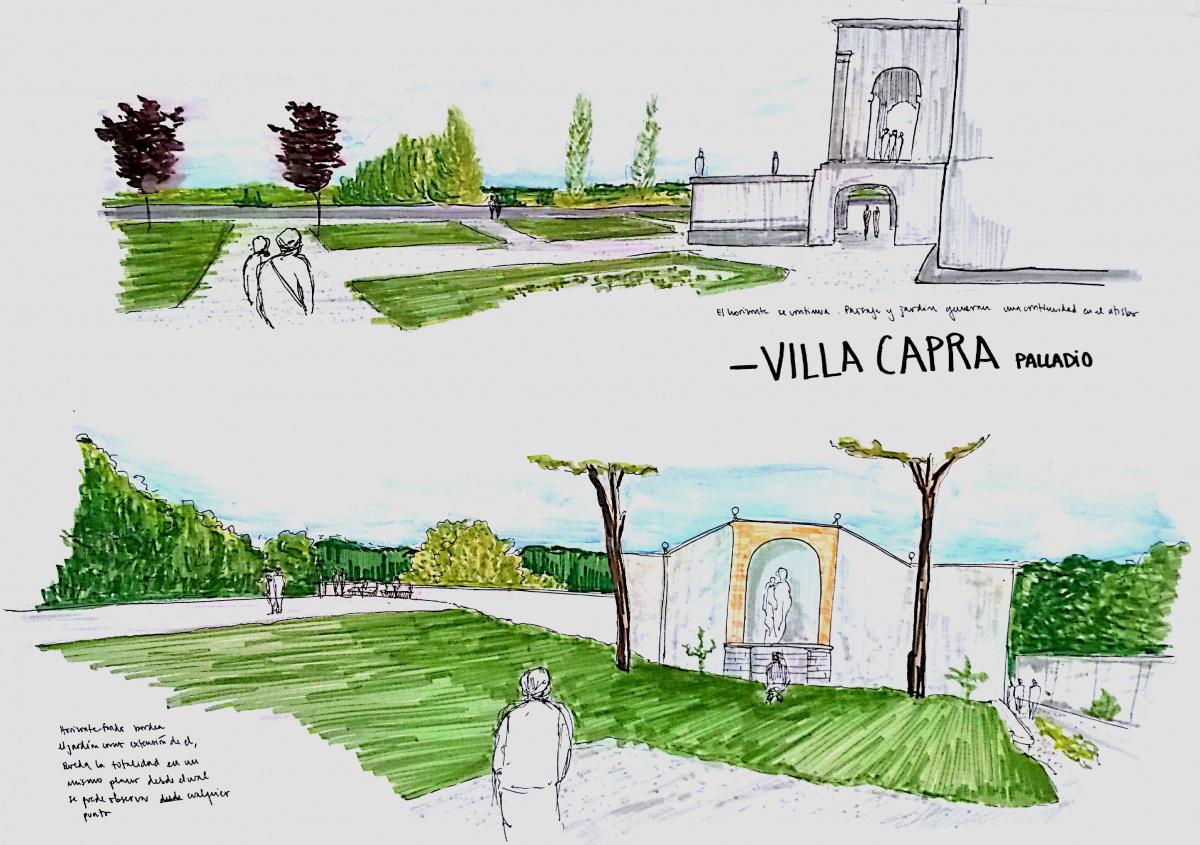 Croquis jardines villa capra y villa lante casiopea for Croquis jardin